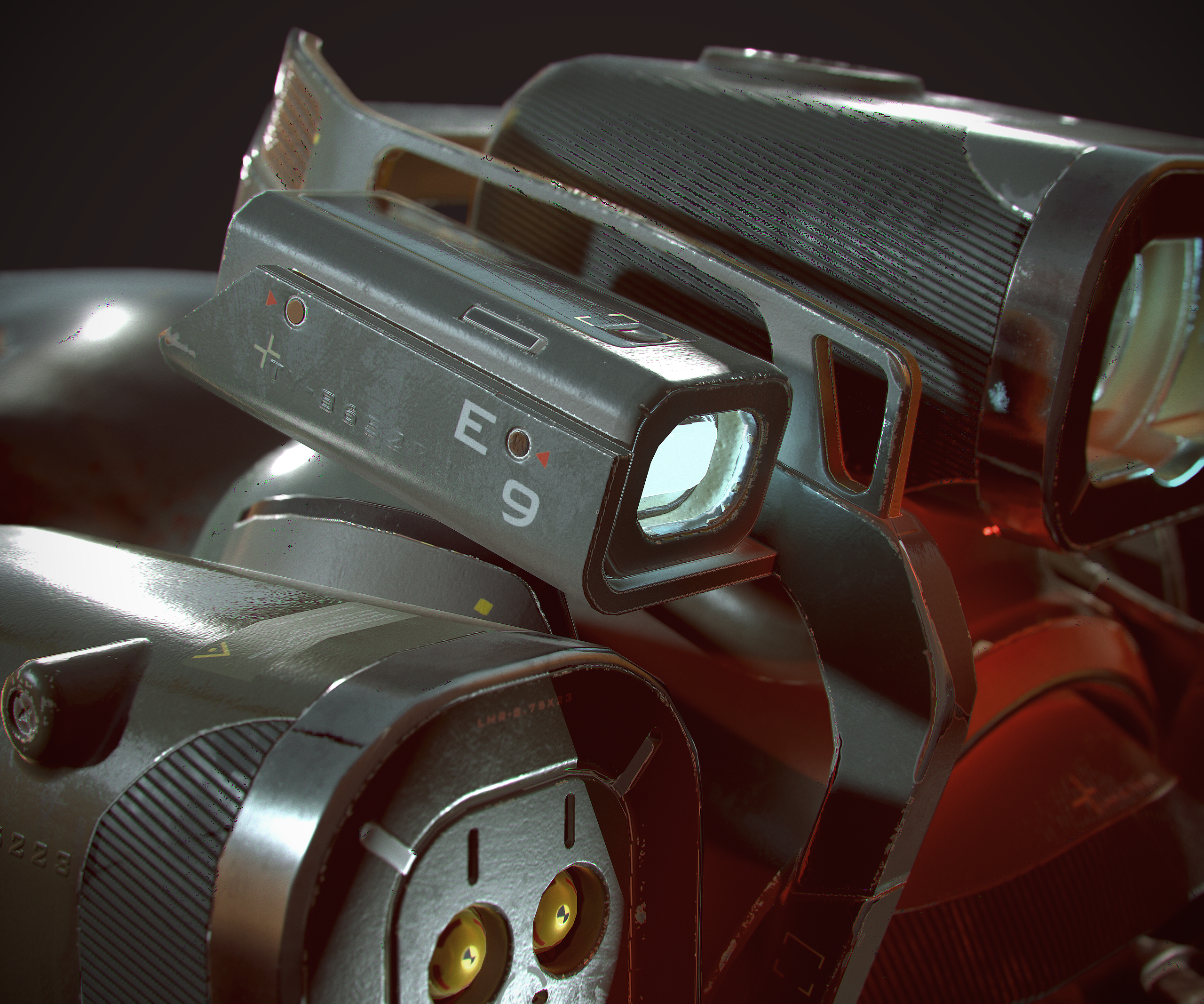 Retro weapons [ VR art ] — polycount